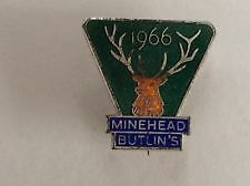 Butlins Badge. Minehead 1966. In good condition
