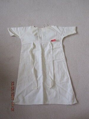 Vintage Baby's Flannelette Nightdress With Embroidered Squirrels & Flowers