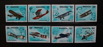 RWANDA 1978 Aviation History Aircraft. Set of 8. Mint Never Hinged. SG889/896.