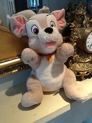 "SCAMP 11"" approx DISNEY LADY AND THE TRAMP Soft Toy Plush Dog"