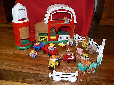 Fisher Price LITTLE PEOPLE  FARMYARD set + extras