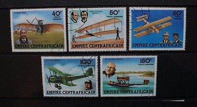 CENTRAL AFRICAN EMPIRE 1978 Aviation Aircraft. Set of 5. Fine USED/CTO. SG586/90