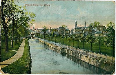 CUPAR from the Eden Fife Scotland Vintage Colour PC 1908