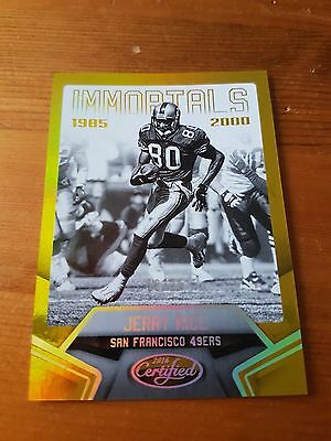 2016 Panini Certified Immortals Mirror Gold #10/25 Jerry Rice