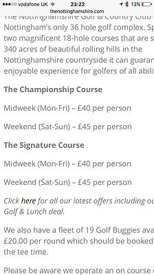 Nottinghamshire Golf And Country Club FOURBALL