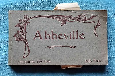 24 Detachable Unused Printed Postcards Abbeville France Pre Ww1