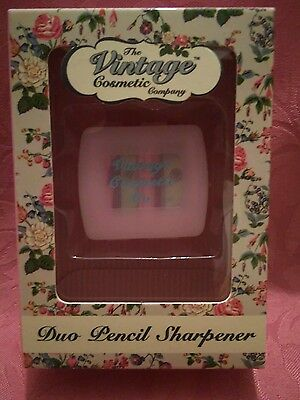 The Vintage Cosmetic Company Duo pencil sharpener, in Pink...BRAND NEW