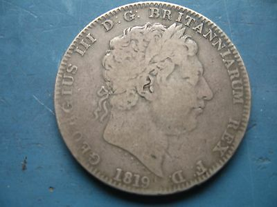 Coin George III crown 1819 Fine