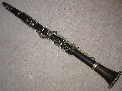 """nice old wooden B- Clarinet by """"Zalud Terezin"""" 2 Rings"""
