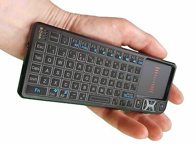 Mini Wireless Keyboard Touchpad 2.4GHz Backlit LED Laser for Kodi XBMC Android