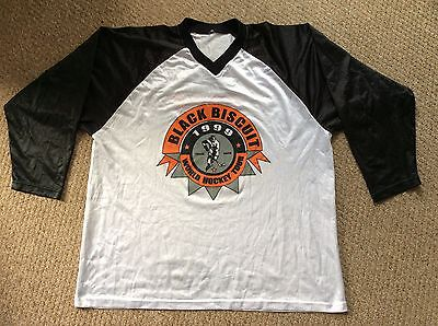 Vintage 1999, Black Biscuit Inline Hockey Shirt, Mens, L