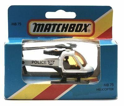 Matchbox: Mb75 - Helicopter - Police - Original Box Sealed - Mint - New