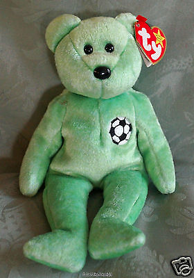 Ty Beanie Baby Collectable Bear - Kicks (1998) - Mint With Tag Error - Retired