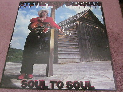 Stevie Ray Vaughan 1985 Soul To Soul 12x12 Promo Cover Flat Poster Double-Sided