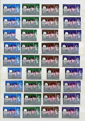 COMMONWEALTH OMNIBUS - 1965 CHURCHILL - almost complete MNH ** - 4 scans 35 sets