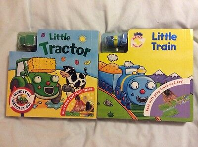 Baby Board Books With Tracks And Wind Up Vehicles