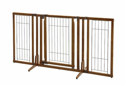 Richell 94193 Premium Plus Freestanding Pet Gate With Door Brand New In Box