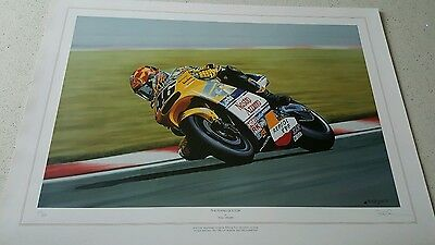 Valentino Rossi ' The Flying Doctor' Limited edition print by Rod Organ