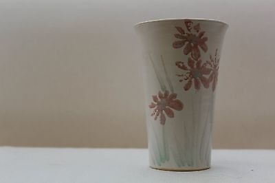 Vintage 1980's Hand Painted Floral Conwy Pottery Vase
