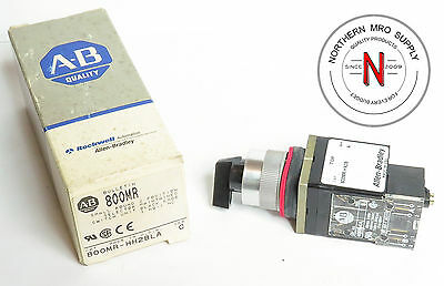 Allen Bradley 800Mr-Hh2Bla Small Selector Switch, 2 Maintianed Position, 1No 1Nc