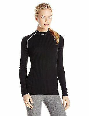 Craft Active Extreme Concept Long Sleeve Base Layer - Womens, Black, Size L
