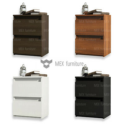 MODERN Bedside Table, Cabinet, two drawers - Matt Body & Fronts BEST PRICE!