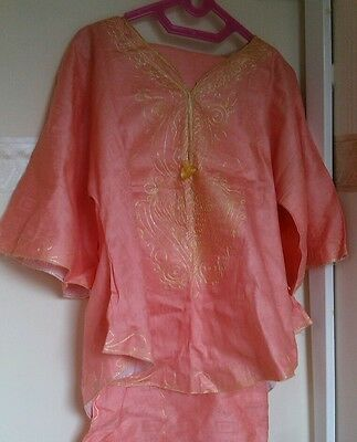 Stunning Ladies  embroidered african outfit - top and wrapper skirt