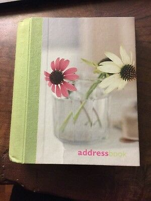 PAPERCHASE Address Book Daisies Daisy Flowers Floral canvas greens