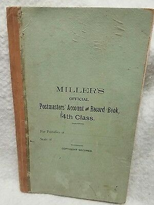 1896 to 1899 Millers Postmasters Account & Record Book Ledger. Varden Pennsylva