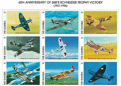 Gambia - Airplanes, Schneider Victory, 1996 - Sc 1823 Sheetlet MNH