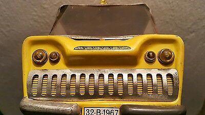 Vintage Truck 1967 Taxi Airport Tin Toy Friction Luggage Baggage Pick-Up Cab