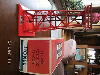 LIONEL  494 42 Red Rotating beacon with box