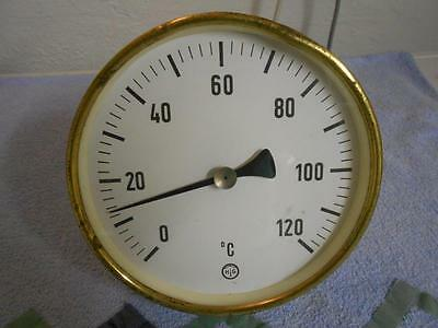 Altes Thermometer (für Heizung) aus Messing - Old German Thermometer Brass