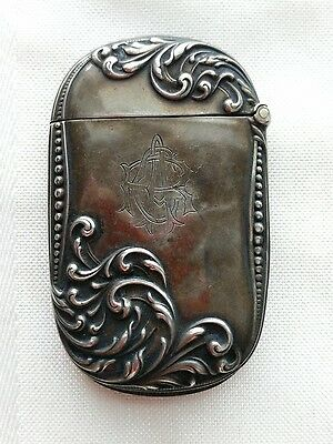 Vintage Sterling Silver Match SafeCase #813 with Hallmark and Bottom Striker