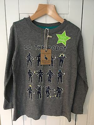 Boys Joules Grey Robot Top Age 5-6 Years Old - BRAND NEW WITH TAGS!