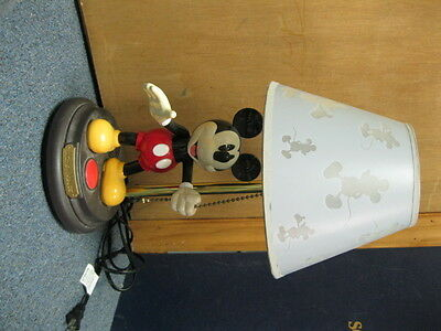 MICKEY MOUSE DISNEY ANIMATED TALKING LAMP and Shade