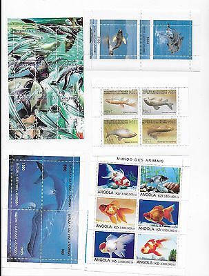 Animals / dieren  COLLECTION sheets Fish and pinguins