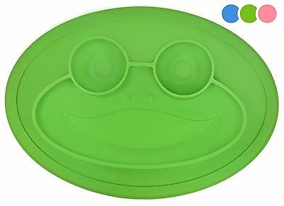 Round Silicone Suction Frog Placemat for Children Kids Toddlers Babies Highch...
