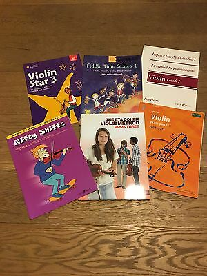 Six Violin books suitable for Grades 1 and 2 students