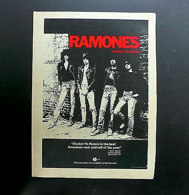 RAMONES - Rocket to Russia - Original Magazine Ad 1977 - Punk