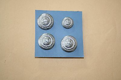 Northunberland Constabulary Police Buttons King's Crown.