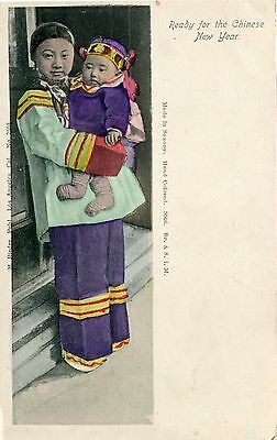 China Town - Young Mother and Child pre WWI LA Los Angeles CA published postcard