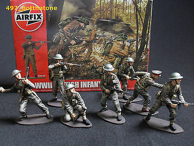 Airfix 1/32 British Infantry x 14 boxed WW2. professionally painted.