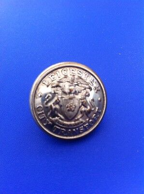 LEICESTER CITY TRANSPORT BRIGHT METAL BUTTON - 23mm Firmin London Make.