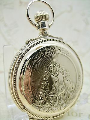 WALTHAM WATCH CO. - AT & Co. BOX HINGE 18s HUNTING POCKET WATCH -10K GOLD