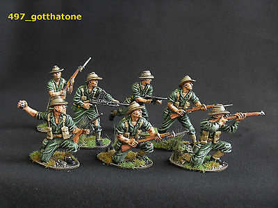 Airfix 1/32 pro converted and painted Australian/chindits, Anzacs  54mm