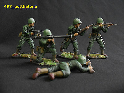 airfix/tssd 1/32 painted American infantry ww2. professionally painted. 54mm