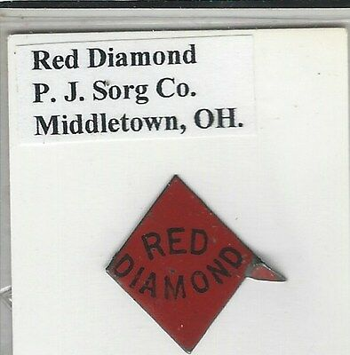 Tobacco Tag P. J. Sorg Co. Middletown, OH. Rede Diamond