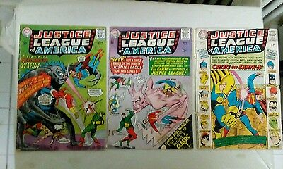 Justice League of America issues #36 37 + 38(DC,1960s)