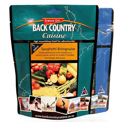 New - Back Country Cuisine Spaghetti Bolognaise Freeze Dried Meal - Five Serve